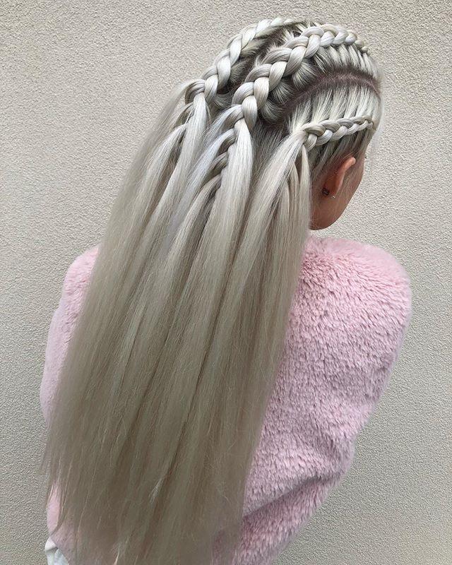 Random Hair Color Beauty Inspired Beauty In 2020 Long Hair Styles Hair Styles Braids For Long Hair