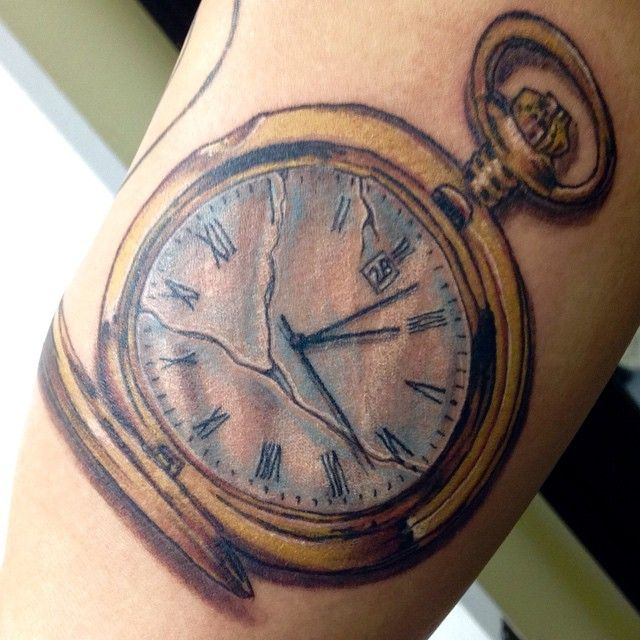 Broken Pocket Watch Tattoo Design Broken pocket watch @r...