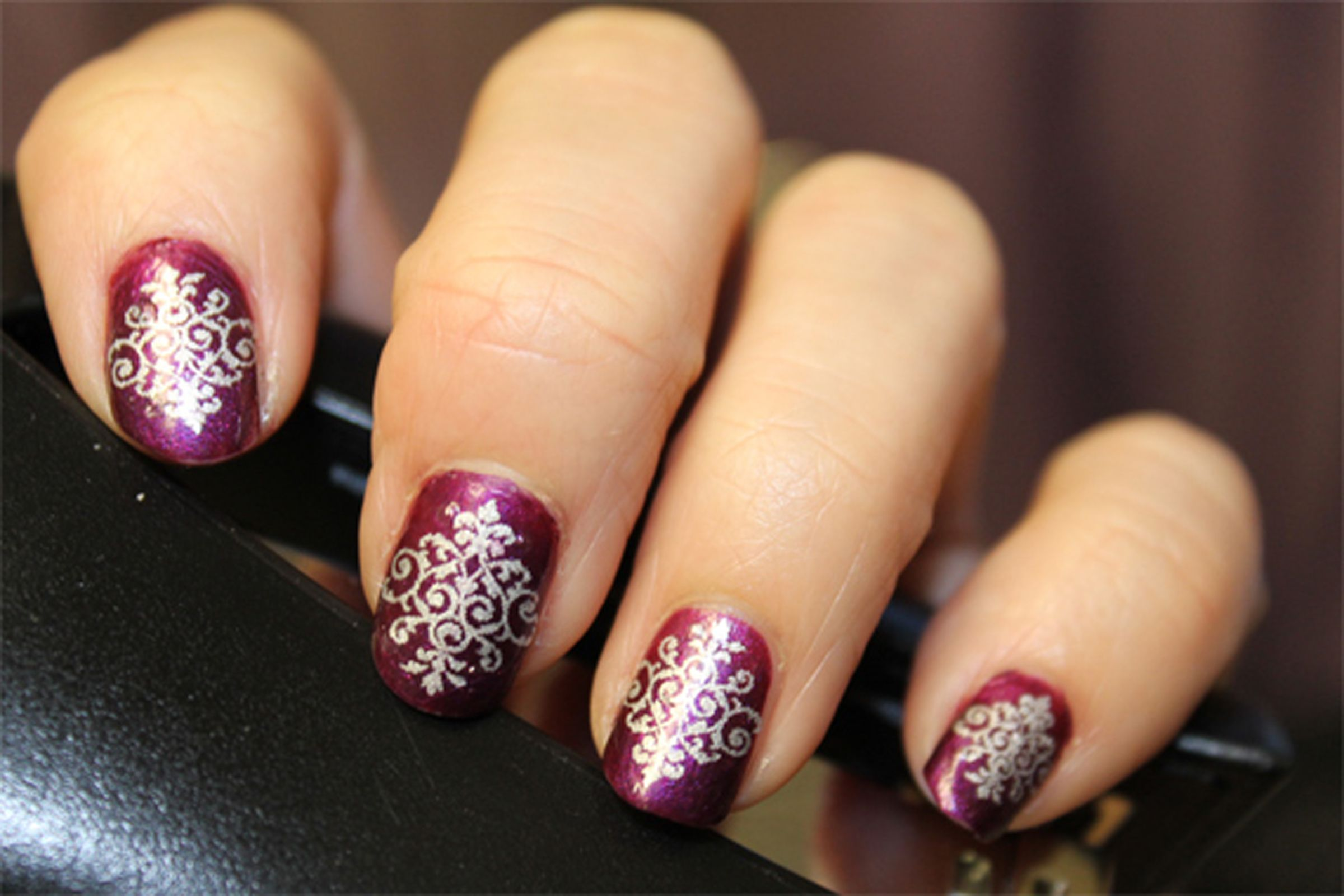 SILVER LACE DAMASK Nail Art Decals (DMS)   Hair, Nails, Makeup ...