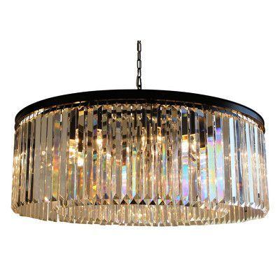 Found it at wayfair dangelo 12 light crystal chandelier