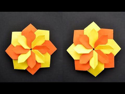 Photo of Wonderful PAPER FLOWER   Modular Colored Origami   Tutorial DIY by ColorMania