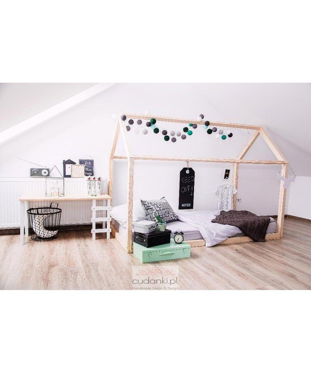 łóżko Domek Bed House Naturalne Bez Stelaża Pod Materac