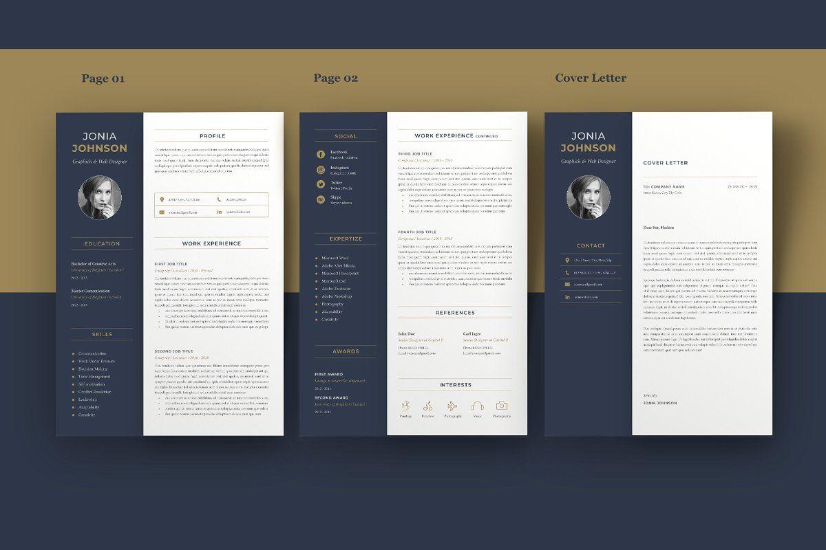 Resume template cv template resume folder cv template
