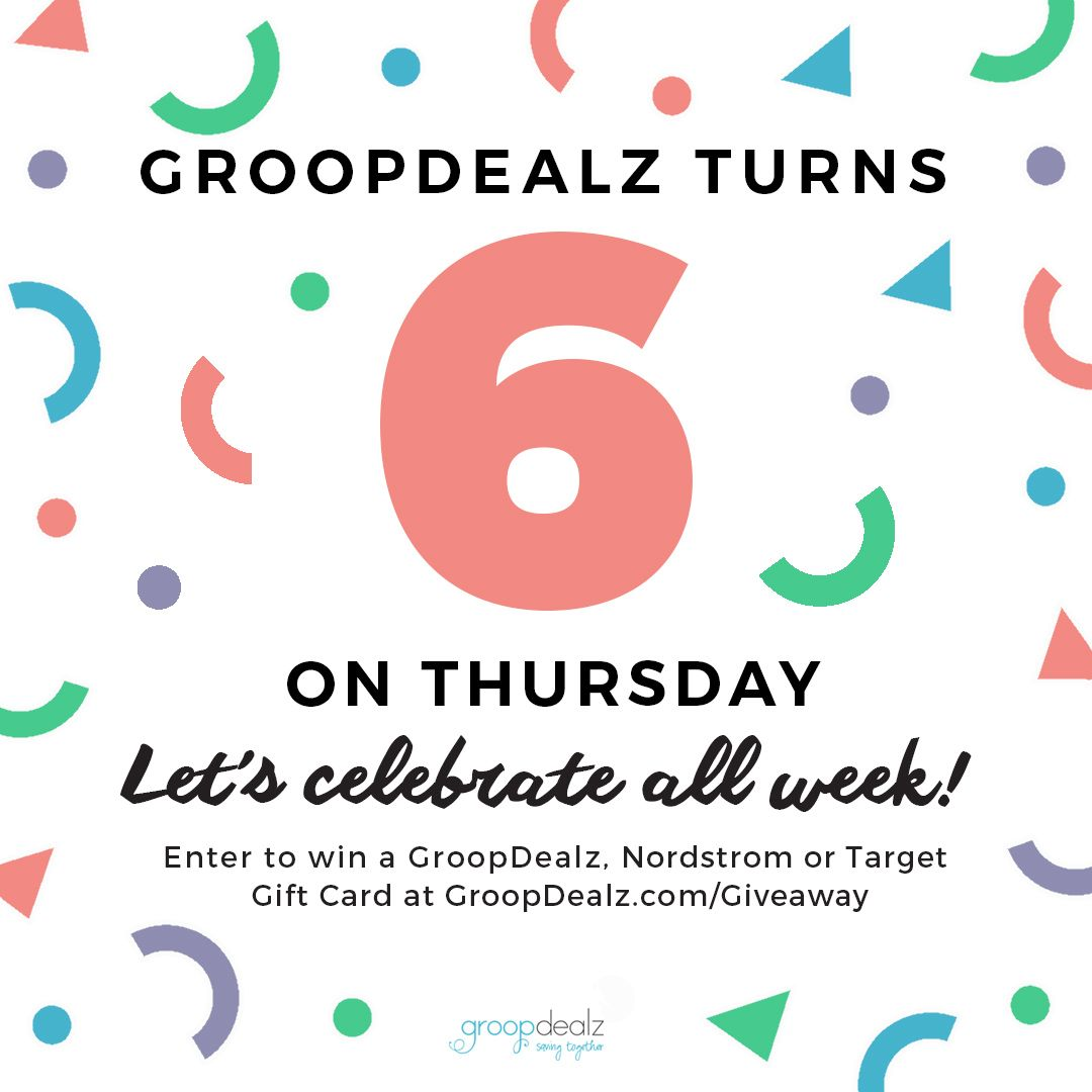 GroopDealz Is Giving Away A Nordstrom Target And Gift Cards For Their Birthday Celebration