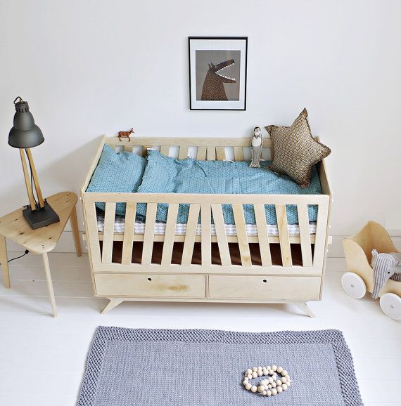 NEST Customized Handmade Plywood Baby Crib / Movable Levels Of Mattress And  Side Walls / Scandinavian Design // Gift For New Parents | Side Wall, ...