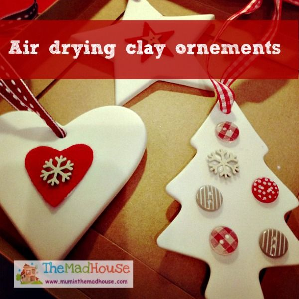Air drying clay ornements  Clay Christmas ornament and Keepsakes