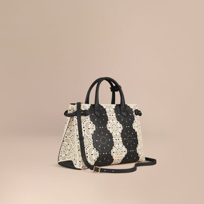 2721212f3381 BURBERRY The Medium Banner In Lace Leather.  burberry  bags  polyester   lace  lining  shoulder bags  suede  hand bags