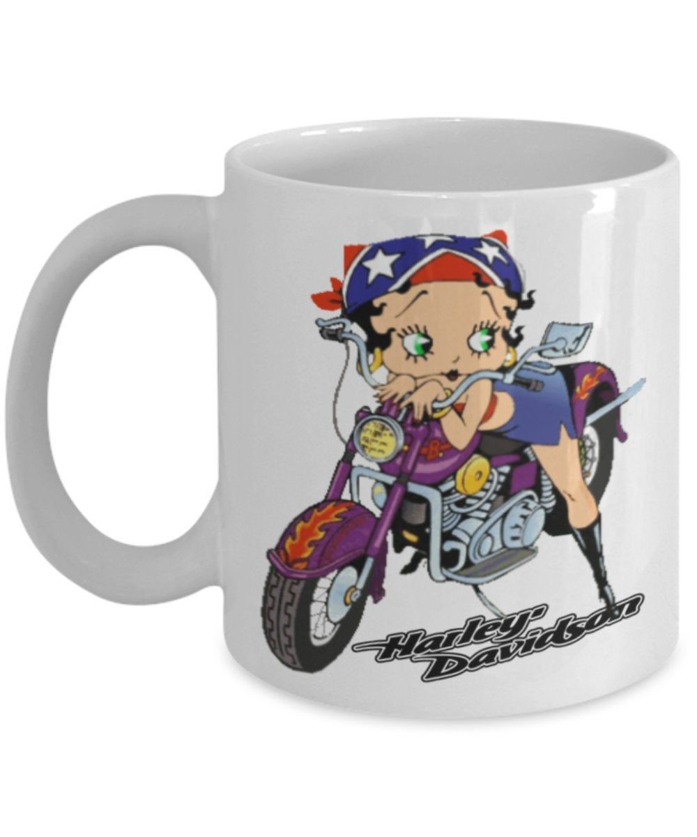 Betty Boop Harley Davidson Coffee Mug The Best Gifts Are Both Personal And Functional The Design Printed On Both Sides Of The Mug