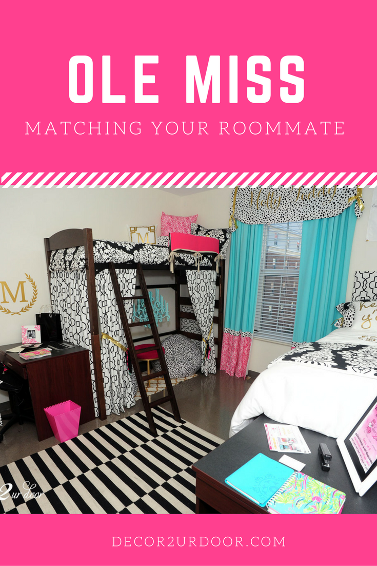Design Your Own Dorm Room: Kate Spade Inspired Dorm Room. Ole Miss Dorm Room Bedding