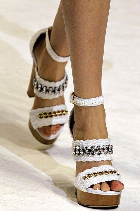 Inspiracion en Zapatos de Crochet - Patrones Crochet | zapatillas a ...