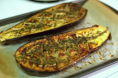 roasted eggplant....so much healthier than the eggplant parms...