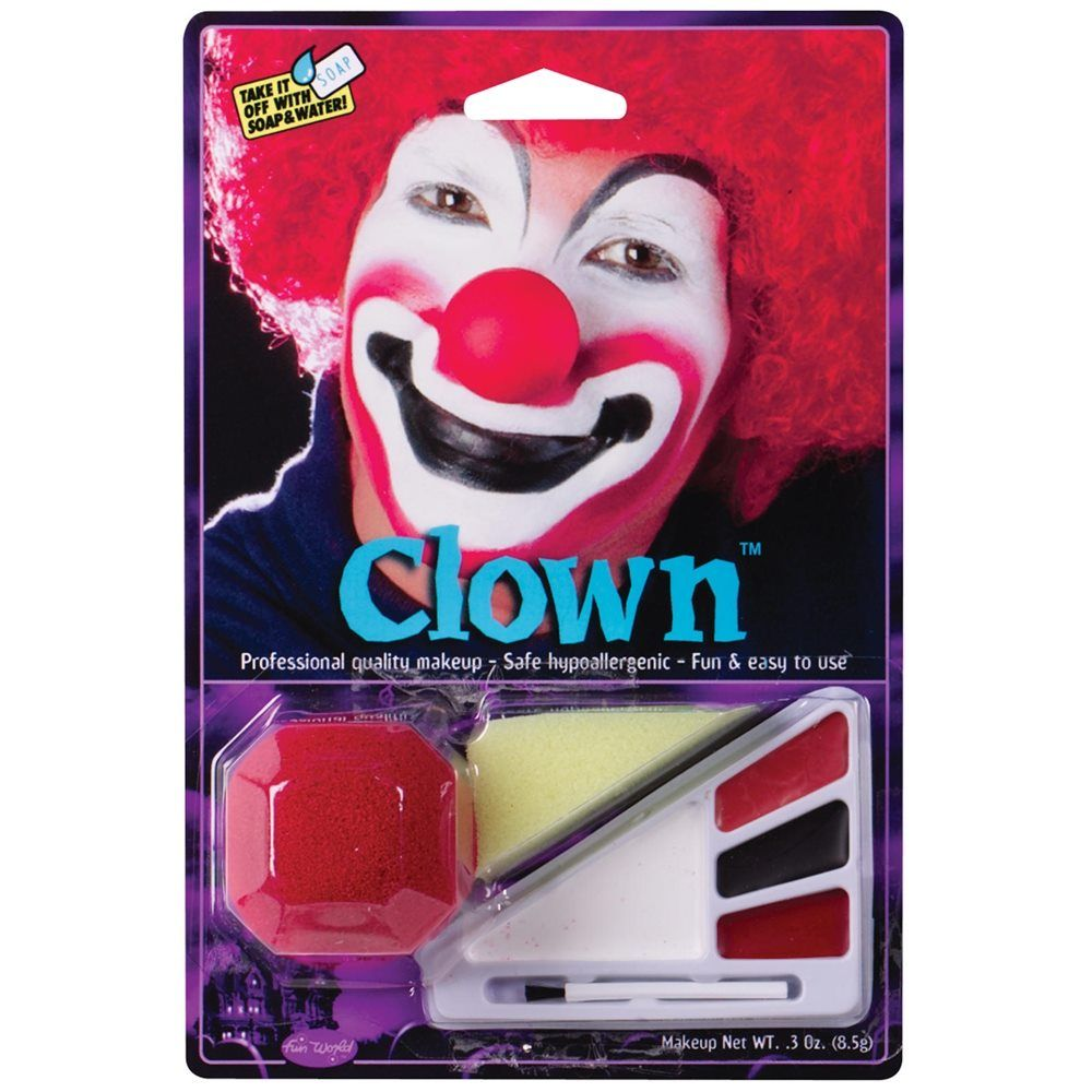 Red Clown Makeup Kit Halloween makeup kits, Makeup kit