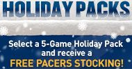 Pacers Holiday Packs - Free Pacers Stocking