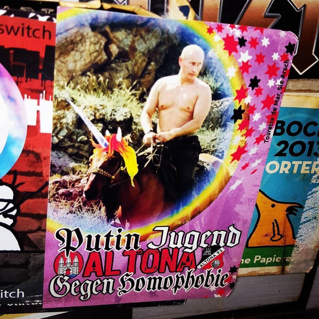 Oh Vladi  #smashhomophobia #putinyourownwork #unicornpower #gloriousrussia #jetzt #vienna #1170 #stickers #streetart #igersaustria #igersvienna by funkelbunt