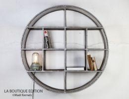 etag re circle ronde grillag e d100cm design industriel la boutique paris home shelves. Black Bedroom Furniture Sets. Home Design Ideas