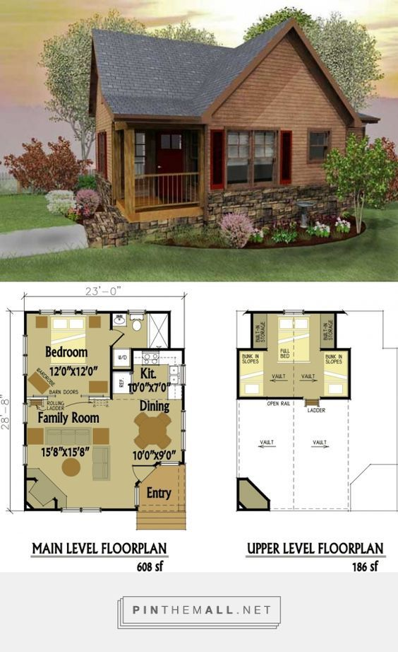 Awesome Small Cabin Floor Plans With Loft #10: Small Cabin Designs With Loft