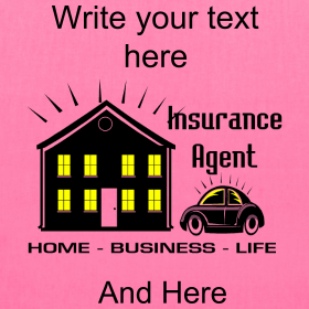 You can personalize this Insurance Agent Tote Bag by using the Text Tool. PersonalizedSouvenirs.com.