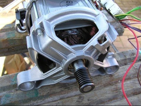 Washing machine motor power up, don't try this at