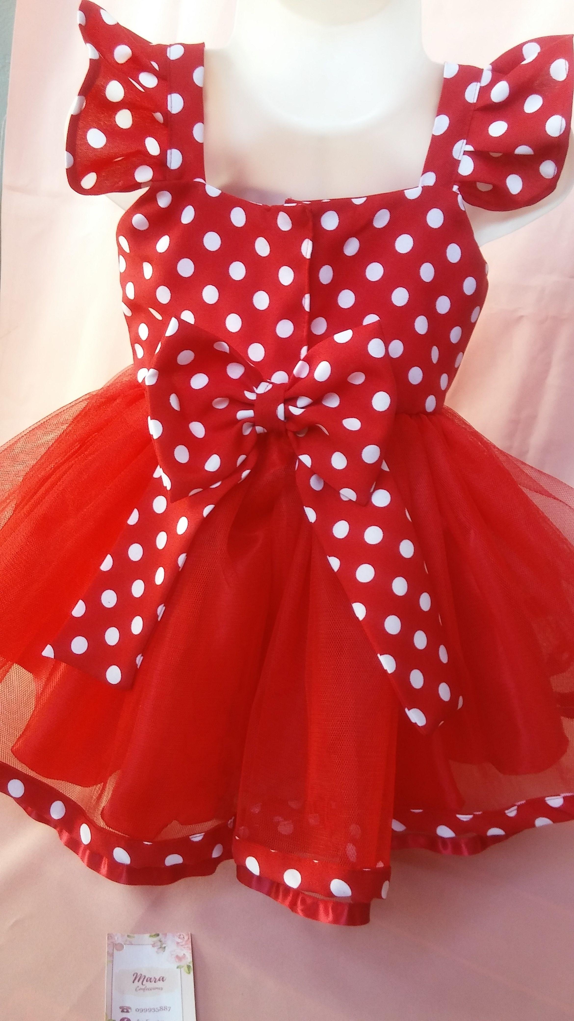 Espalda Vestido Minnie Hecho Por Mara Confecciones Loi