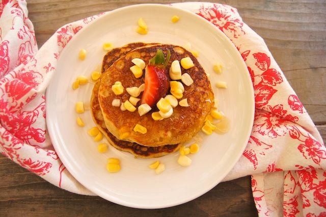 Fresh Corn Cardamom Pancakes
