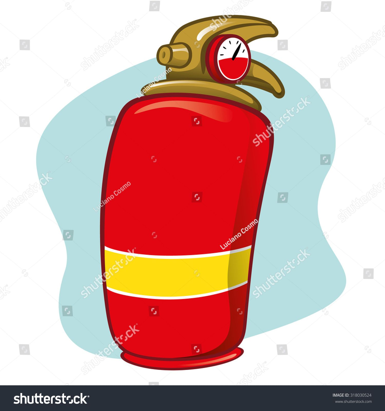 Item Illustration if safety fire extinguisher. Ideal for