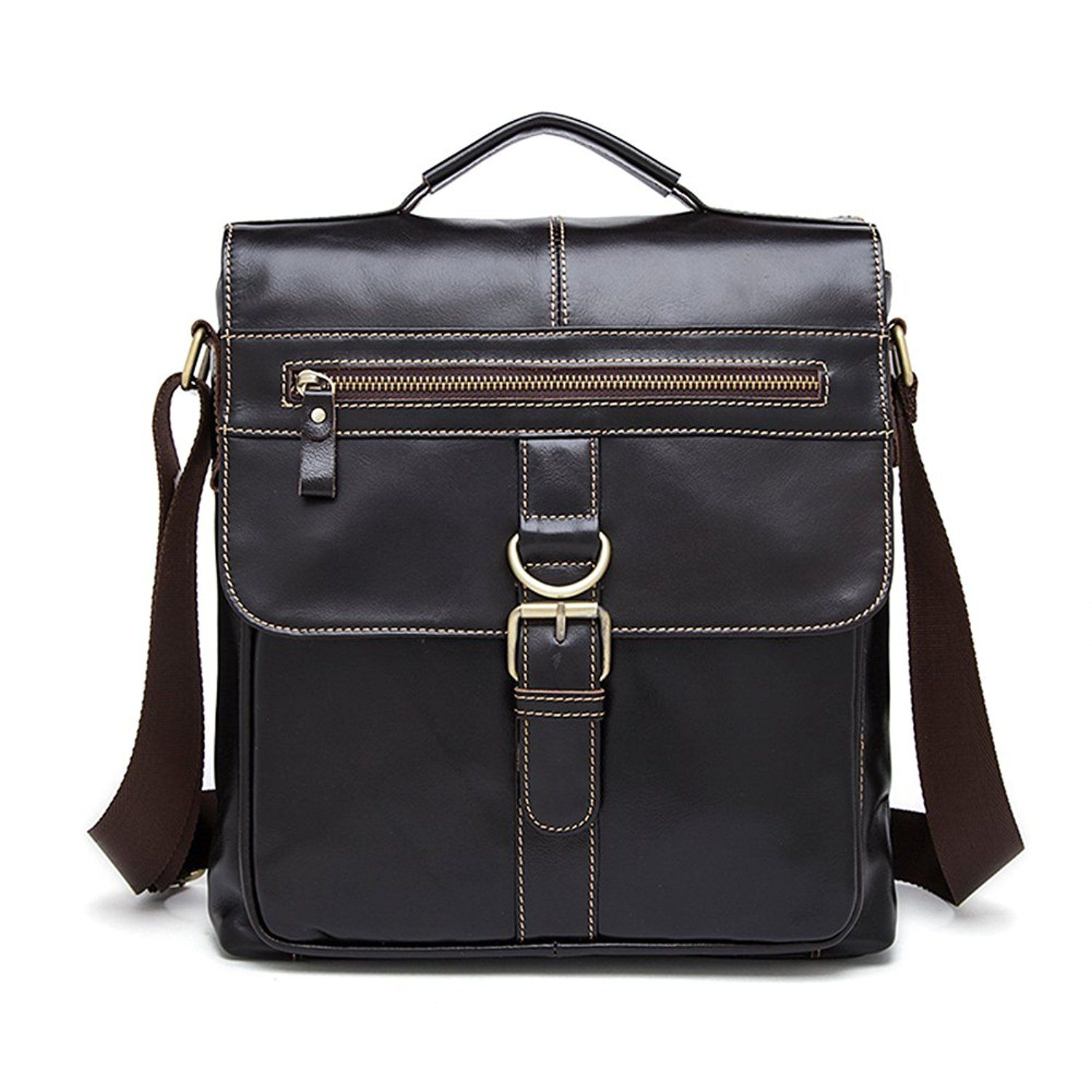f8a692f55c Genda 2Archer Mens Leather Briefcase Leather Messenger College Office Ipad  Bag   Continue to the product at the image link.