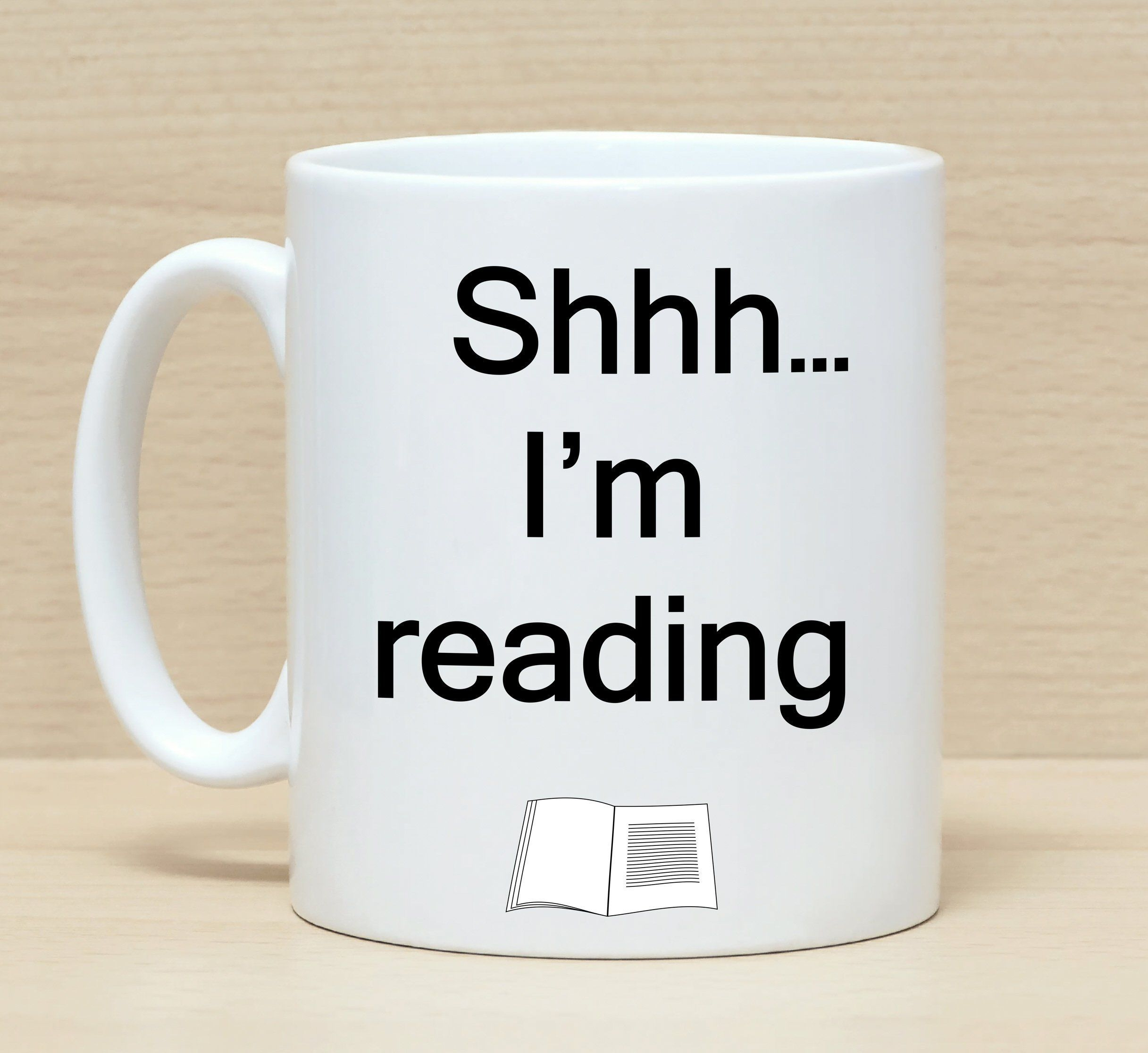 Funny Coffee Mug With Saying Reading For Readers Literary Gift Birthday Mugs By SuburbanCottageUK On
