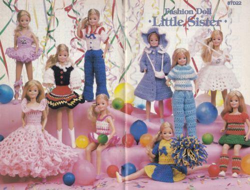 Little-Sister-Annie-039-s-Attic-Fashion-Doll-Clothes-Crochet-Pattern-Booklet-87D22