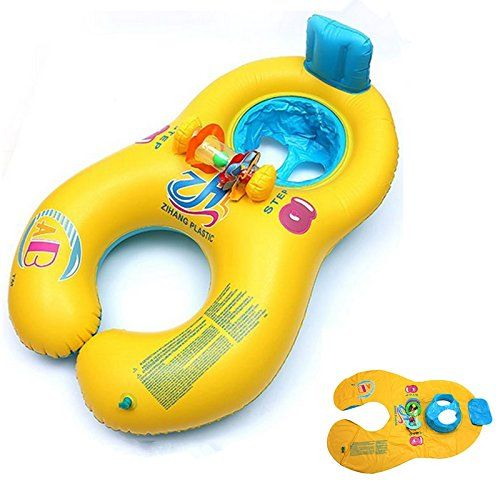 Baby Blow Up Ring Chair Swivel Club Chairs Upholstered Kingso Mother And Inflatable Swim Float Raft Kid S Seat Swimming Pool