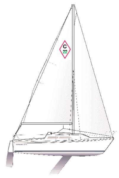 Catalina 22 Rig And Hull Profile Swing Keel Model Catalina Sailboat Sailing Yacht