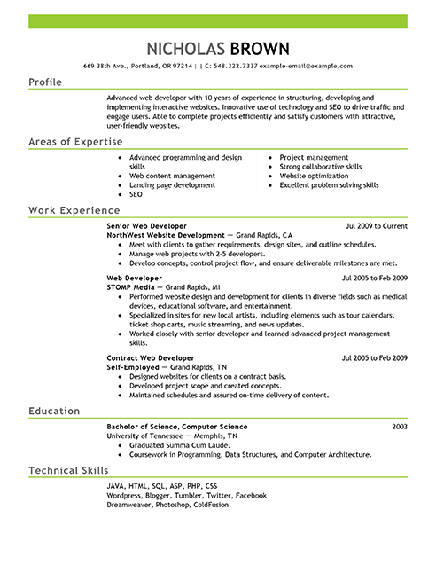 Best It Web Developer Resume Example Livecareer Nursing Resume Template Registered Nurse Resume Resume Examples