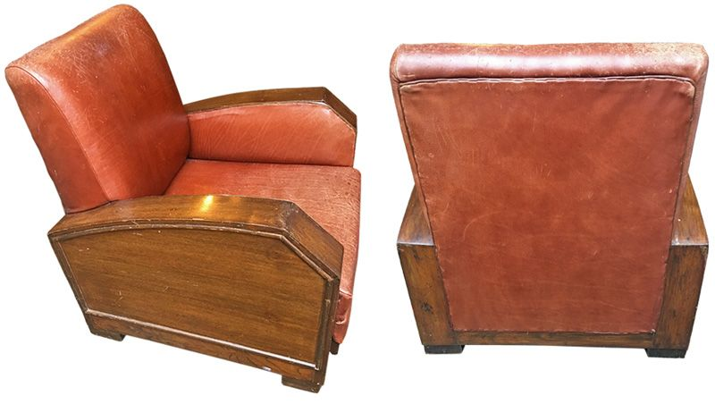 1930s-era Leather Chairs - NOW IN STOCK @ A Life Designed