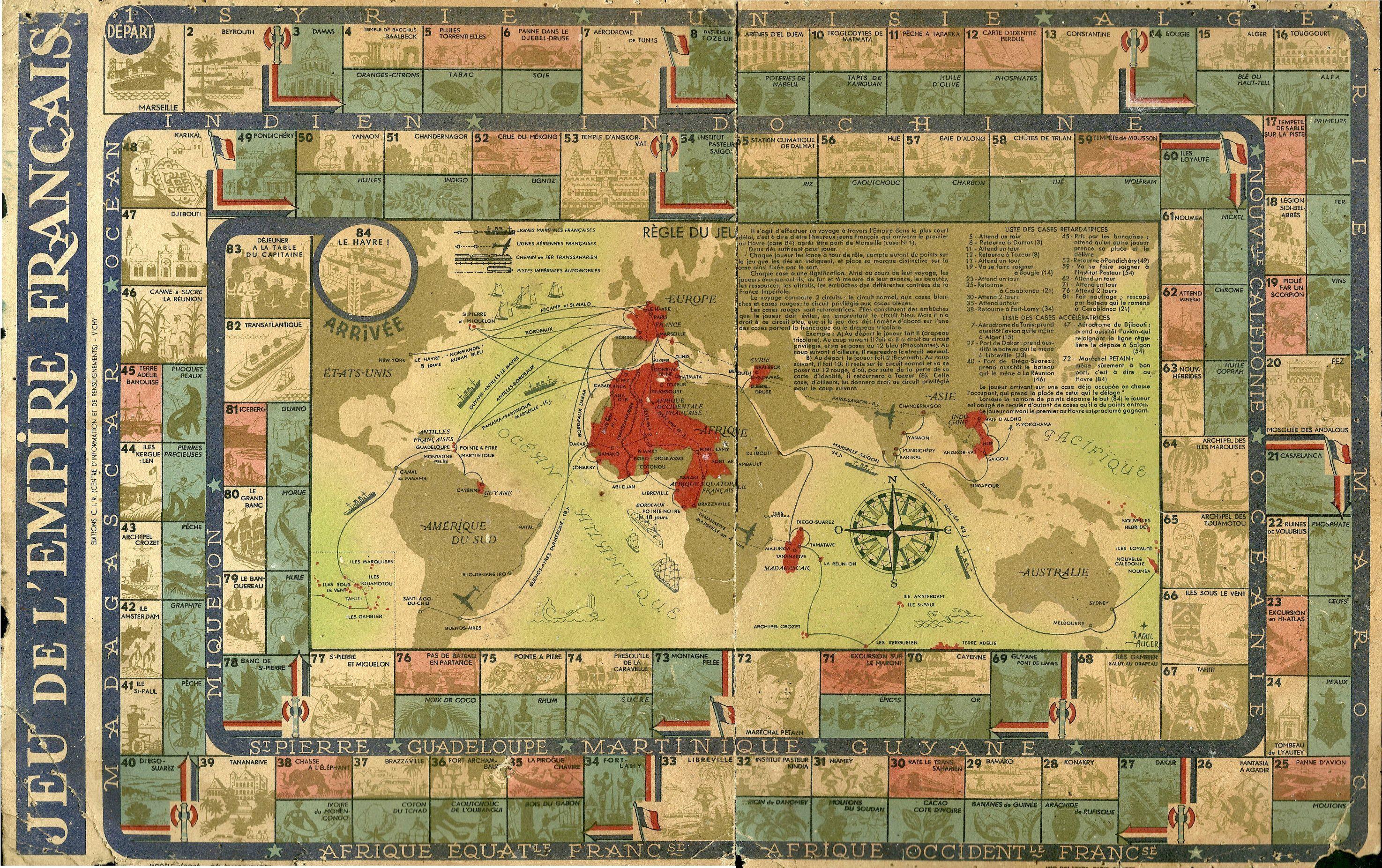 Jue de lempire franais game of the french empire ca 1940 jue de lempire franais game of the french empire ca 1940 gumiabroncs Images