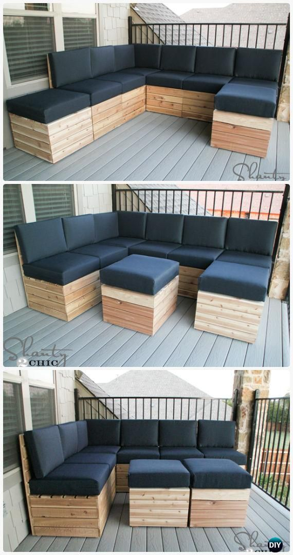 Diy Modular Outdoor Seating Free Plan Instructions Diy Outdoor