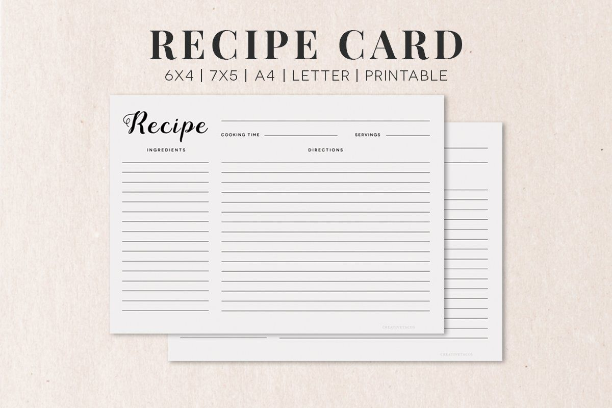 Recipe Card Template Best Recipes Around The World Recipe Cards Template Recipe Cards Card Templates Printable