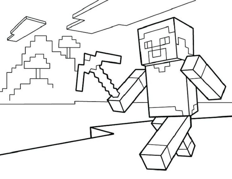 minecraft coloring pages steve diamond armor Coloring