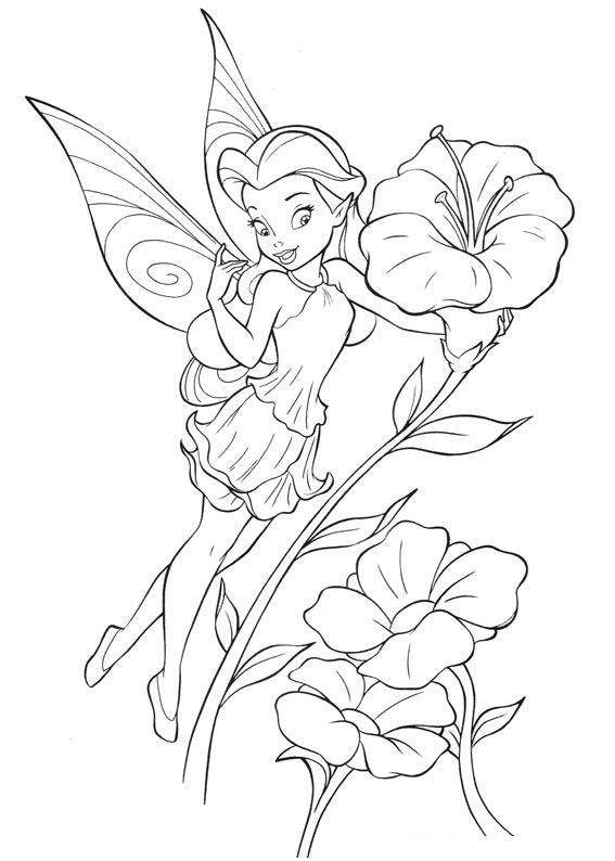 fairy coloring pages disney cartoon fairy tinker bell coloring pages for kids 19