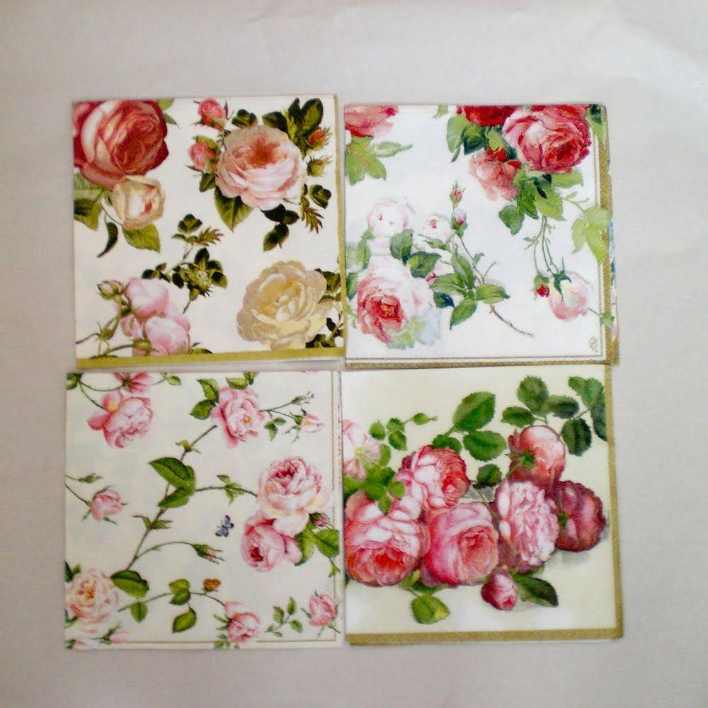 Vintage Paper Napkins Flower Sale Decoromana Paper Napkins