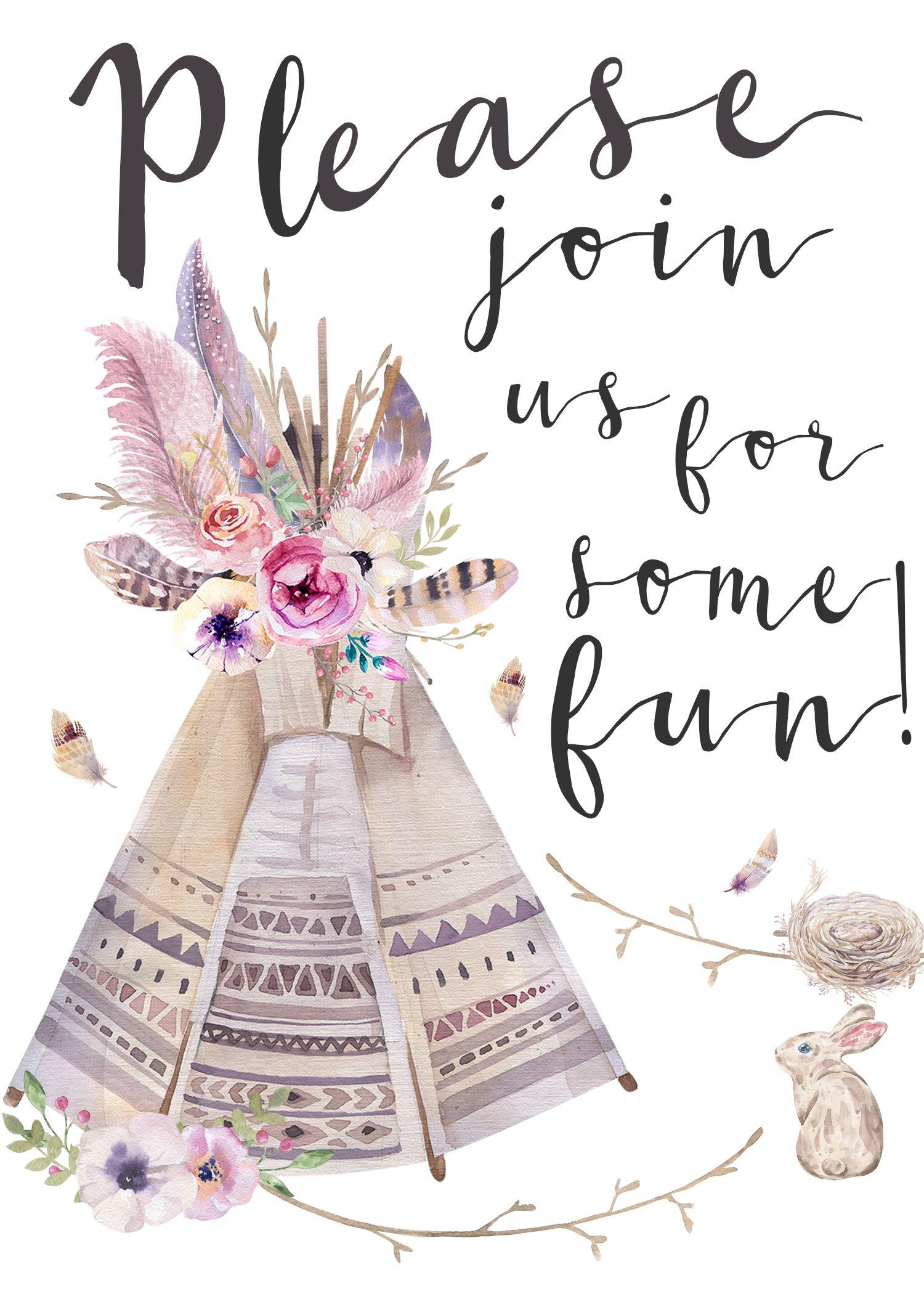 Boho Style Invitation It S Free
