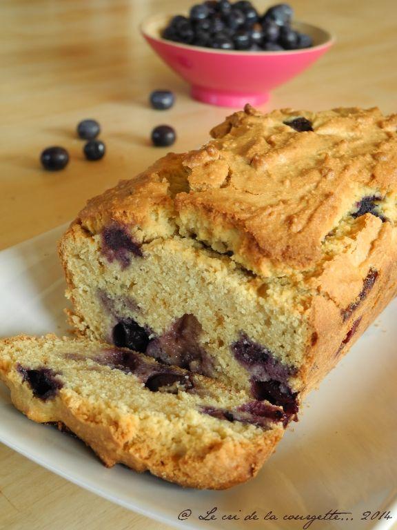 Cake bio à la myrtille {sans gluten, sans lactose}