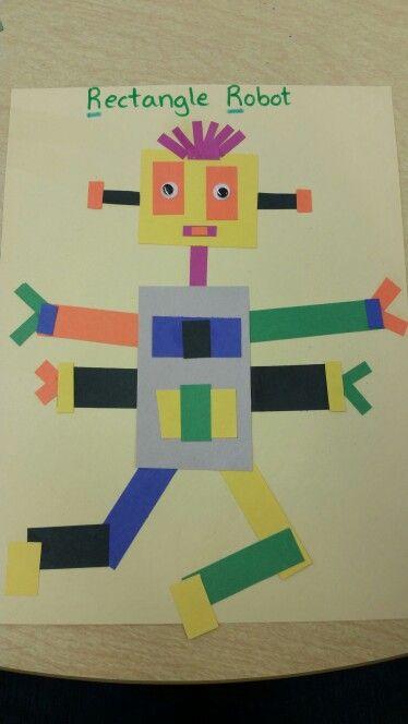 Letter R Rectangle Robot K Crafts Toddler Crafts Crafts