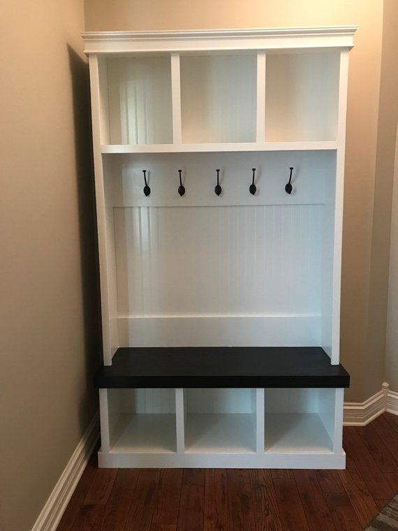 This Beautiful Entryway Locker Is Perfect For Any Entryway Or Mudroom We All Need Some Extra Storage In Our L Foyer Storage Diy Mudroom Bench Mud Room Storage