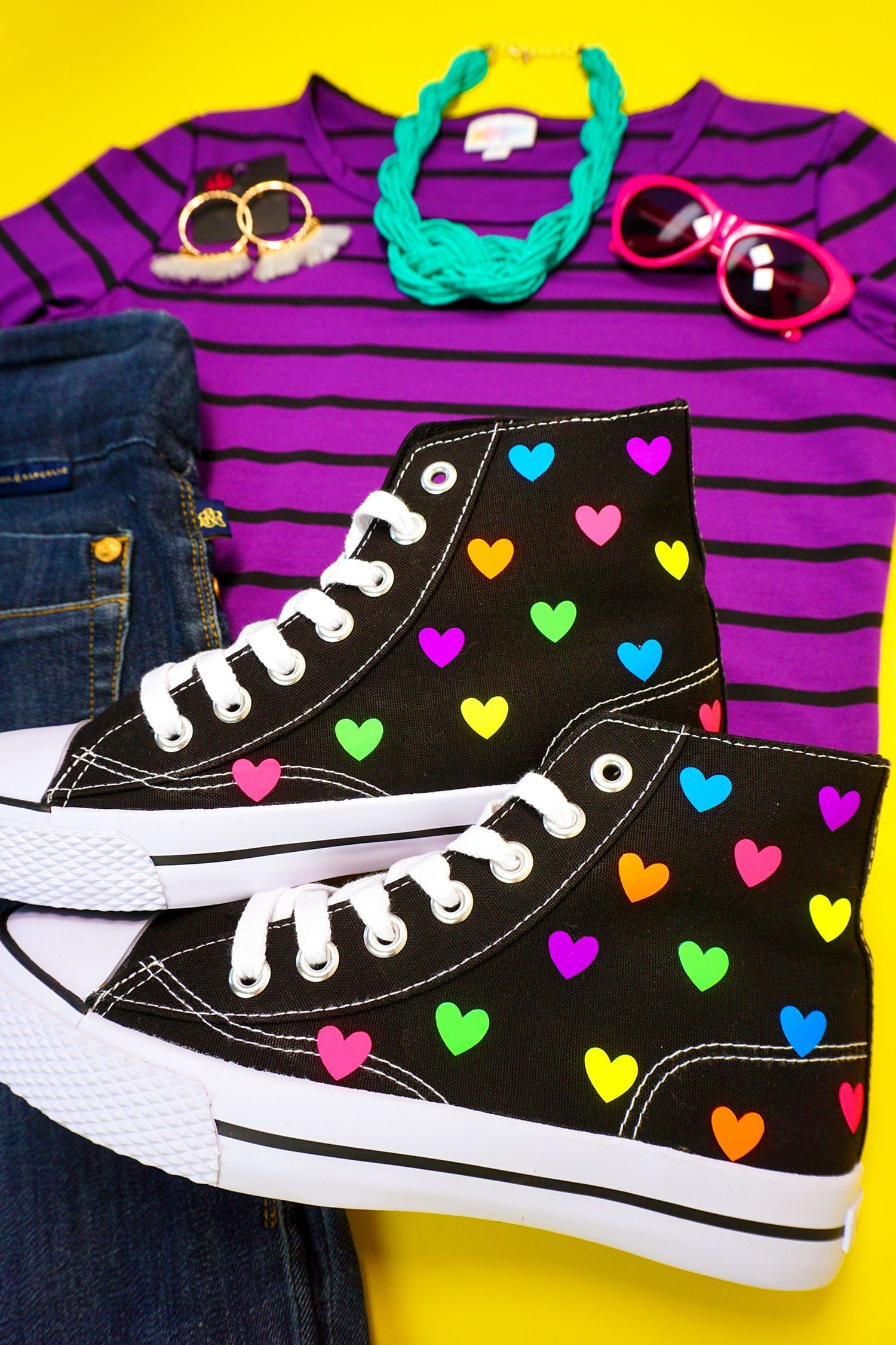 Pin by Holly Cooke on Cricut in 2020   Heart shoes, Rainbow