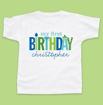 My First Birthday Boy Tshirt Tshirts
