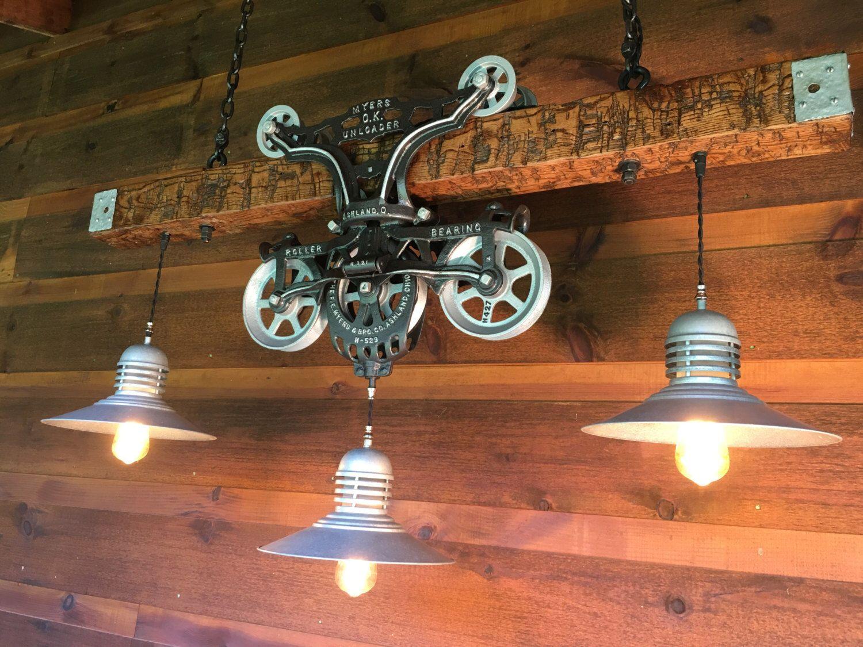 Stunning Custom Hay Trolley Chandelier Light by LukesnHyde on Etsy ...