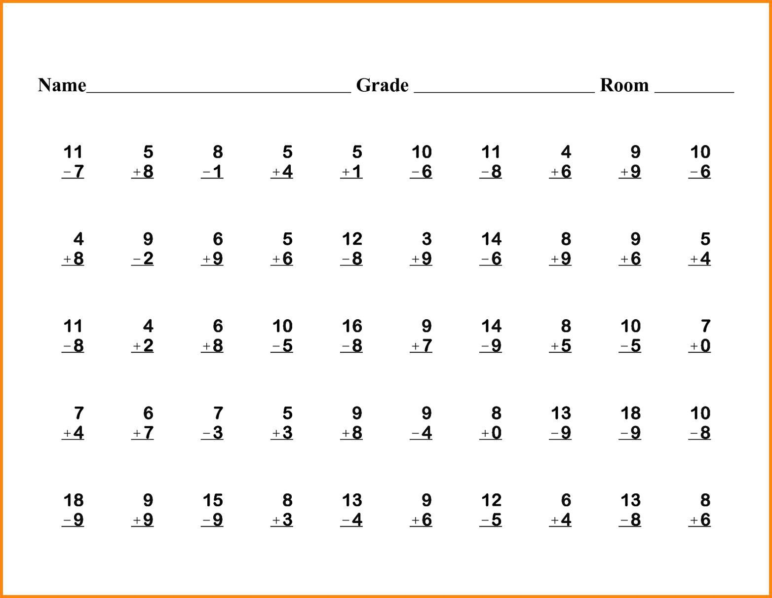 8 1st Grade Math Worksheets Printable Free In