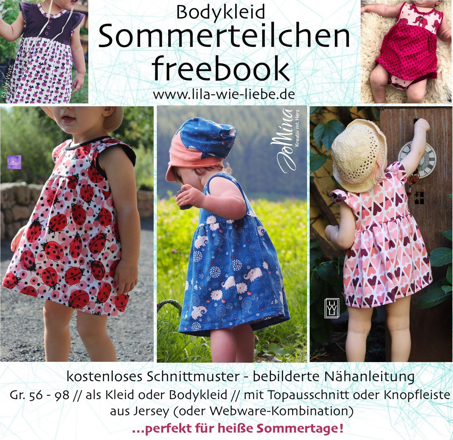 Freebook Bodykleid Sommerteilchen (Gr. 56-98) - Lila wie Liebe
