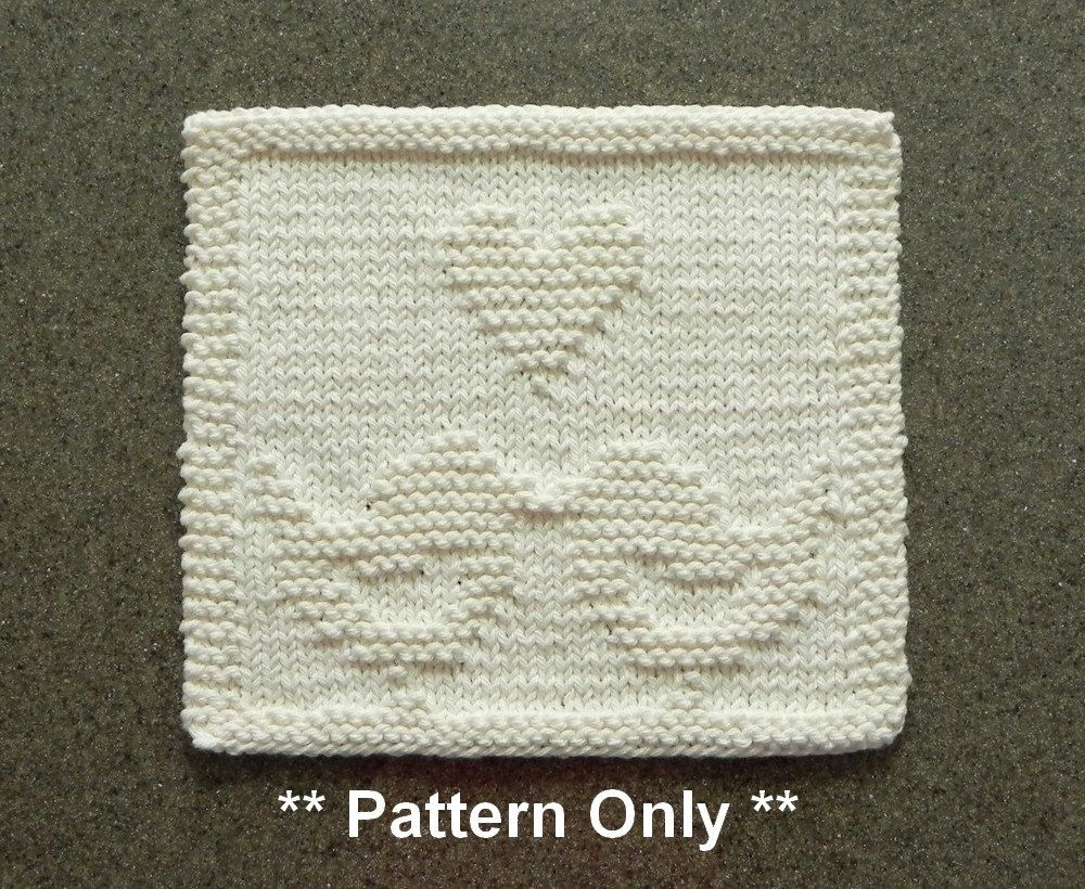 Love birds knitted pattern for dishcloth or wash cloth quilt love birds knitted pattern for dishcloth or wash cloth quilt block for blanket or afghan bankloansurffo Image collections