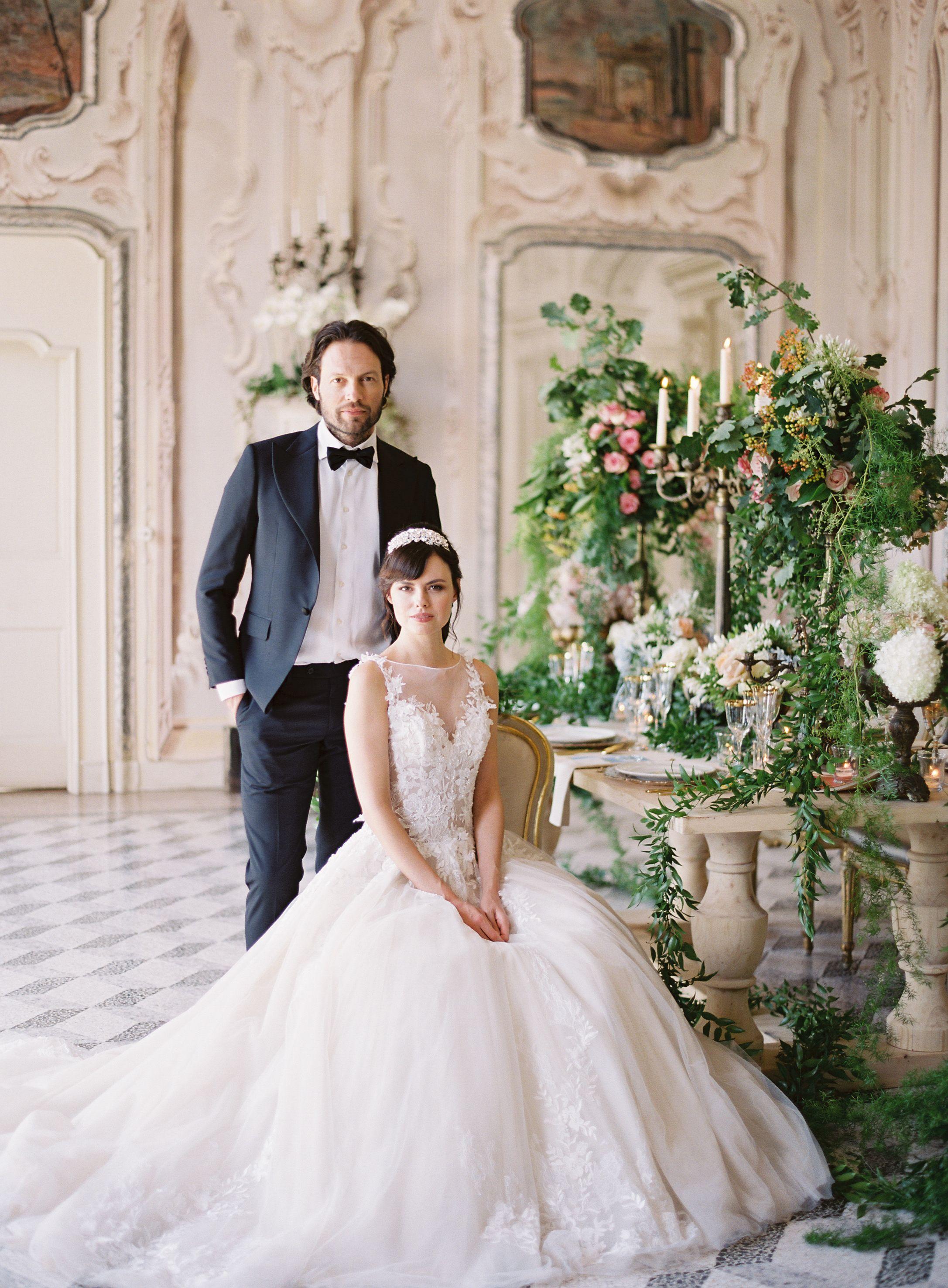 18th century wedding dress  Inspired by th Century Opulence and Lake Como Views  Lake como