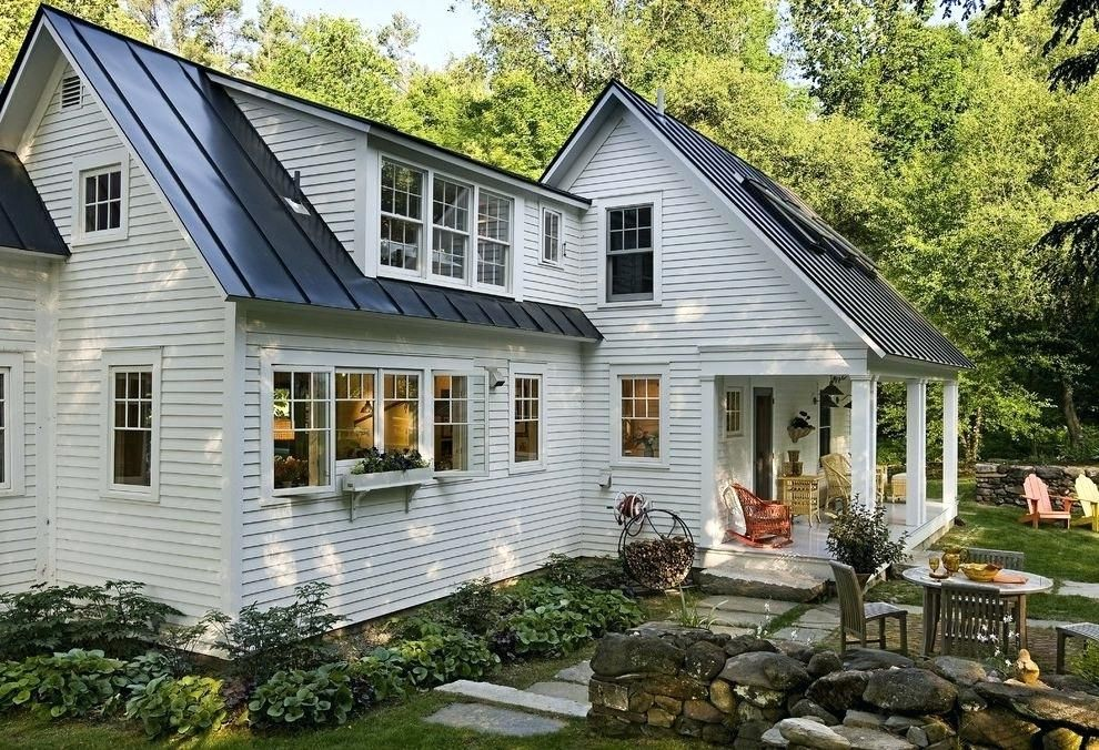 Sheet Metal Homes Farmhouse Exterior And Black Tin Roof